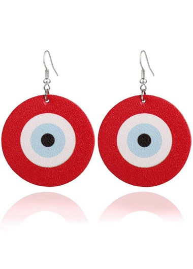 Mother's Day Gifts Red Funny Archery Target Earring Set - One Size
