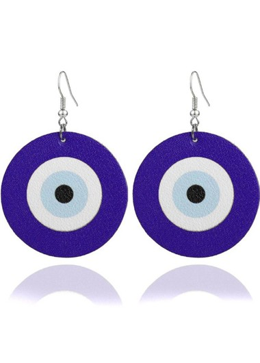 Mother's Day Gifts Archery Target Purple Funny Earring Set - One Size