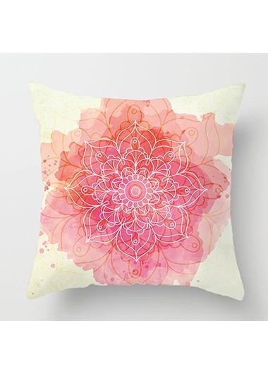 1pc 45 X 45cm Flower Ptrint Beige Pillowcase Without Filler