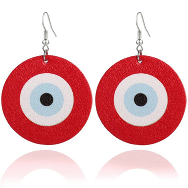Red Funny Archery Target Earring Set