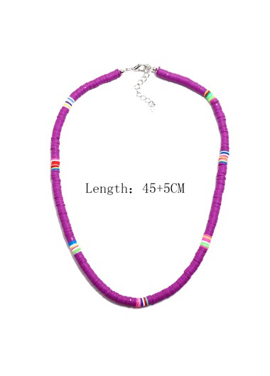 Mother's Day Gifts Purple 1pc Ethnic Style Necklace for Lady - One Size