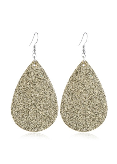 Mother's Day Gifts Frosted Gold Brown Drop Earring Set - One Size