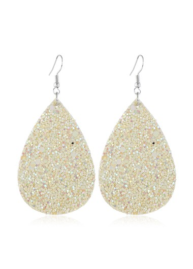 Mother's Day Gifts Plastic Beige Matte Texture Earring Set - One Size