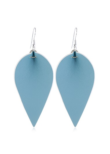 Mother's Day Gifts Blue Leaf Shaped Earring Set for Women - One Size