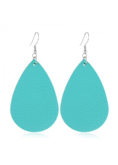Mother's Day Gifts Sky Blue Teardrop Shaped Drop Earrings Set - One Size