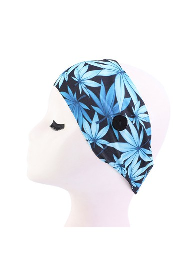 Mother's Day Gifts Elastic Leaf Print Fixed Buckle Headband - One Size