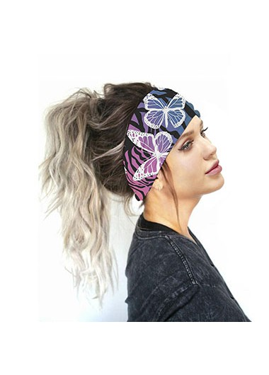 Mother's Day Gifts Multi Color Butterfly Print Bandana - One Size