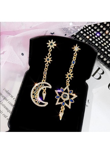Mother's Day Gifts Crescent and Star Shape Earring Set - One Size