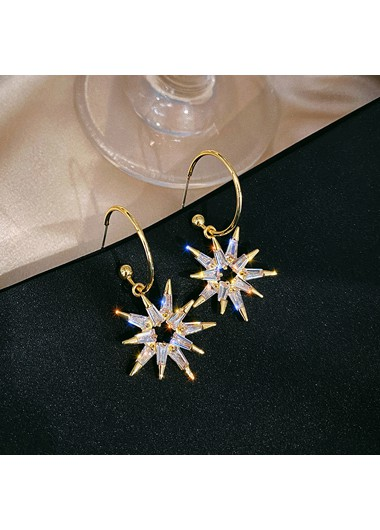 Mother's Day Gifts Geometric Design Rhinestone Embellished Earring Set - One Size