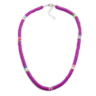 Purple 1pc Ethnic Style Necklace for Lady