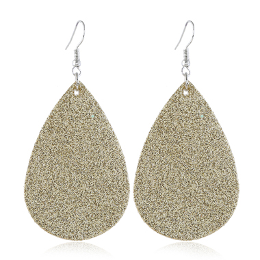 Frosted Gold Brown Drop Earring Set