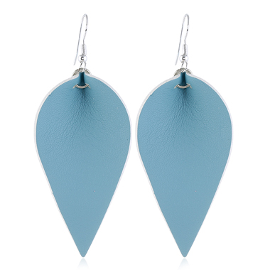 Blue Leaf Shaped Earring Set for Women