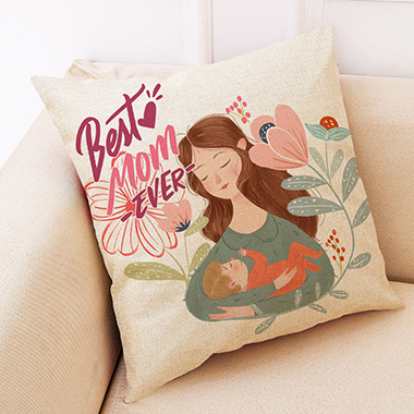 1pc 45 X 45cm Mother's Day Printed Soft Pillowcase