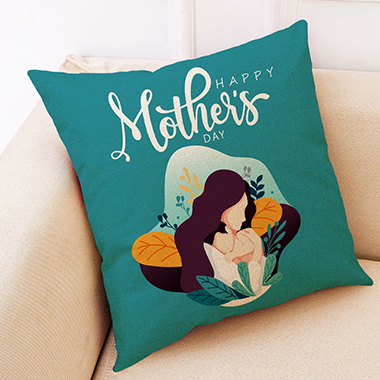 1pc 45 X 45cm Happy Mother's Day Printed Pillowcase
