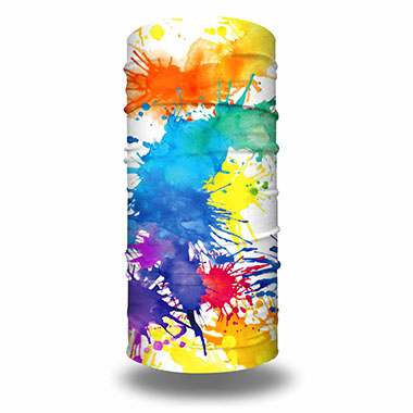 Splash-ink Design Neck Tube Multi-purpose Face Scarf