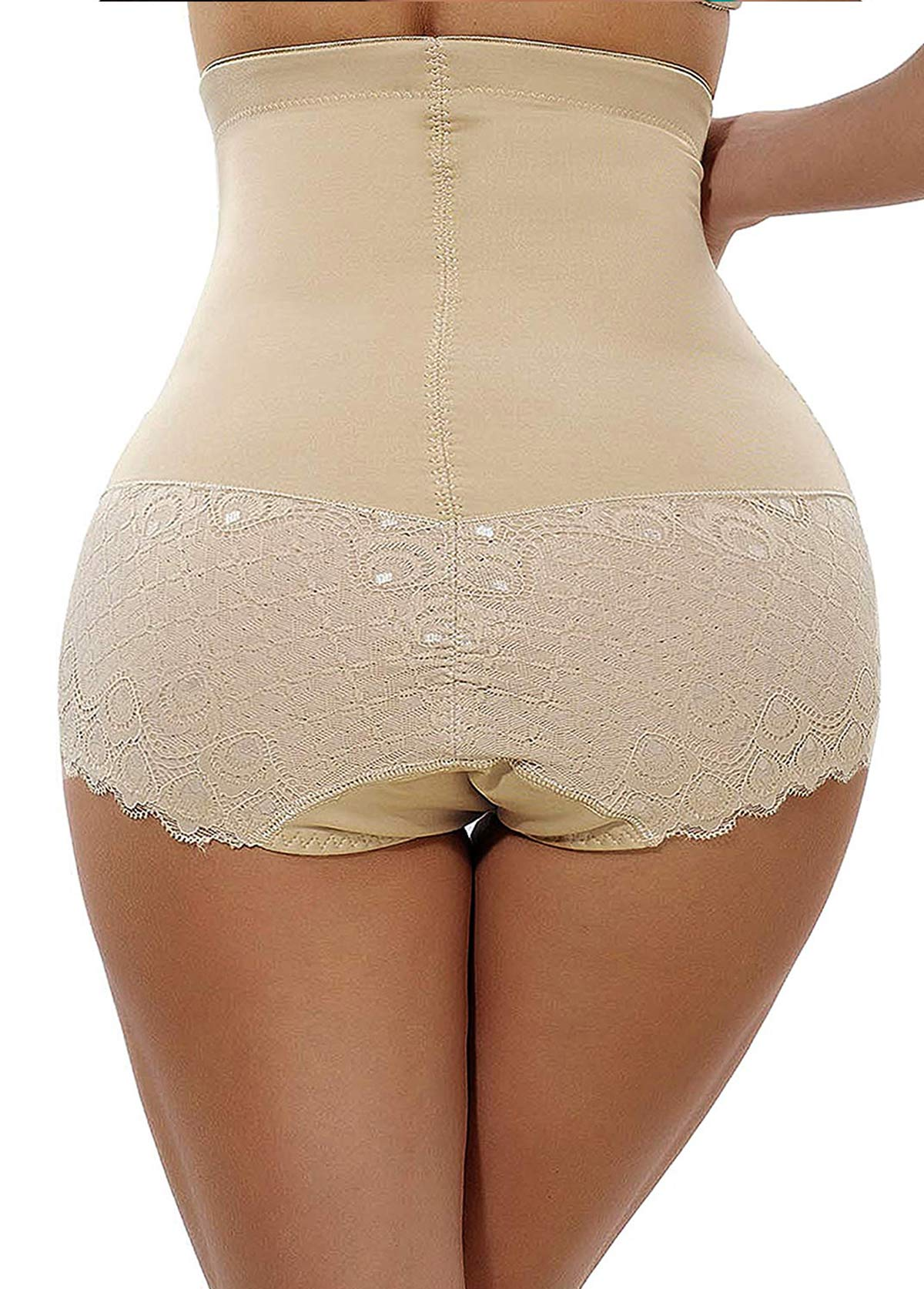 Skin Color Lace Panel Shapewear Shorts