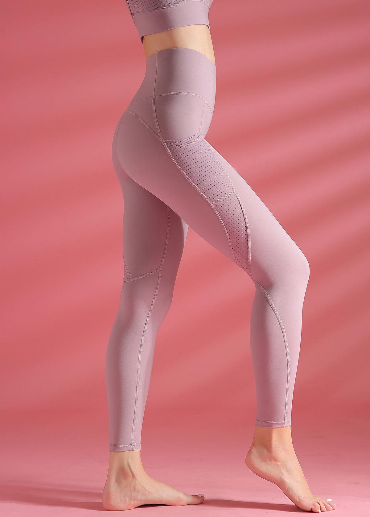 High Waist Light Purple Yoga Leggings