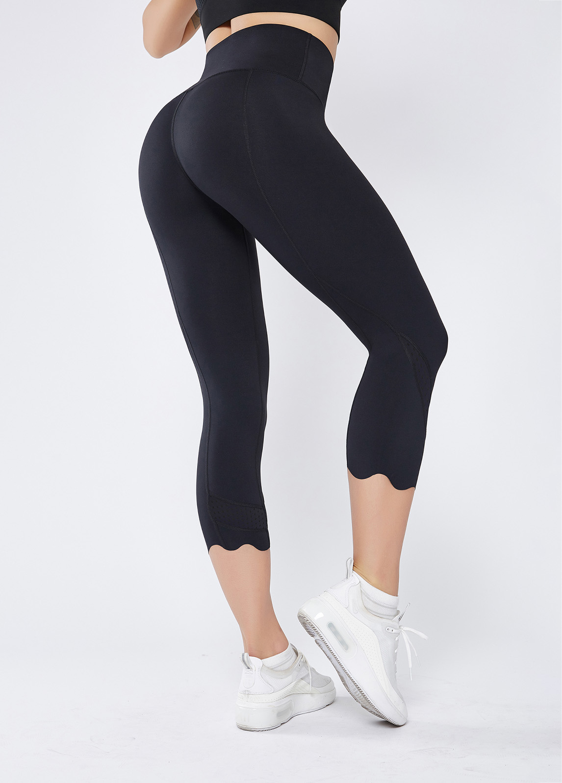 High Waist Black Stretch Quick-drying Breathable Yoga Pants