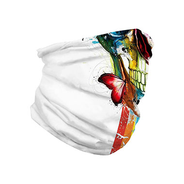 Neck Tube Skull Butterfly Print Multi-purpose Bandana