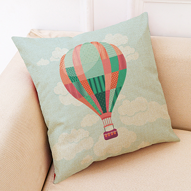 1pc 45 X 45cm Balloon Print Pillow Cover Without Filler