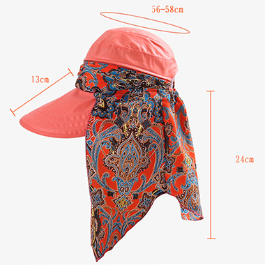 Tribal Print Coral Red Foldable Hat