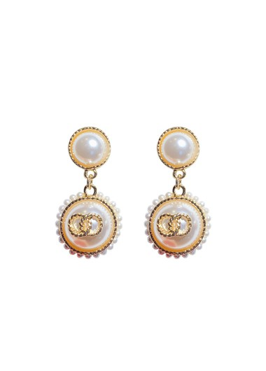 Mother's Day Gifts Pearl Embellished White Earring Set for Women - One Size