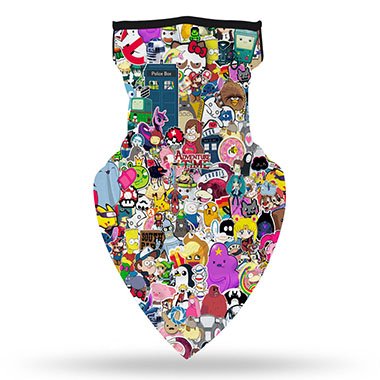 Multi Color Character Print 1pc Bandana