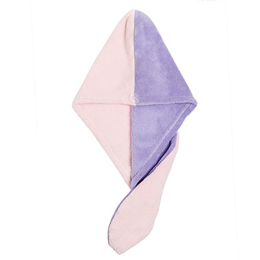 Color Block Hair Drying Cap for Lady