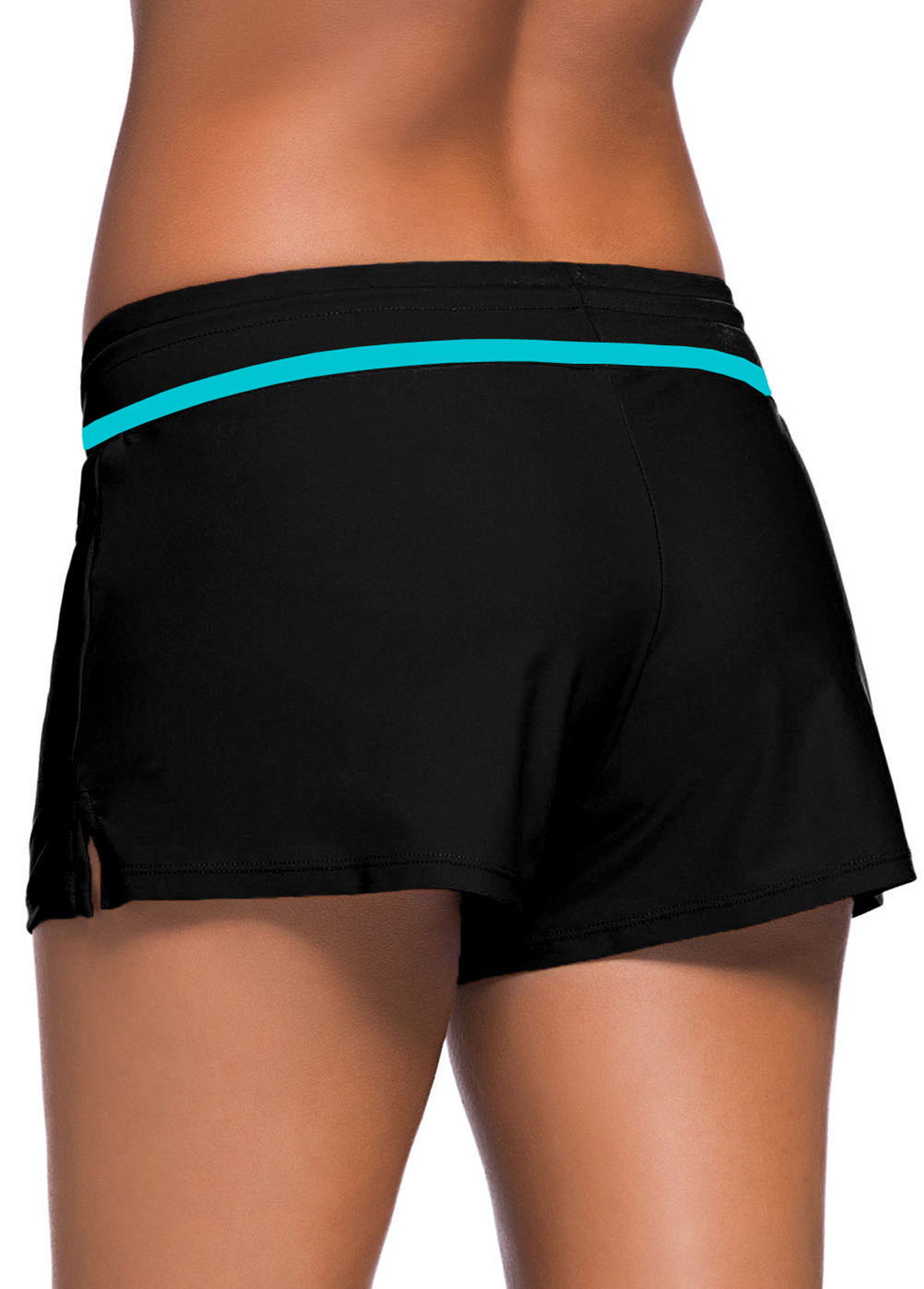 Contrast Bowknot Piping Detail Swimwear Shorts