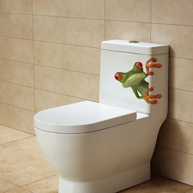 Frog Design Funny 3D Sticker