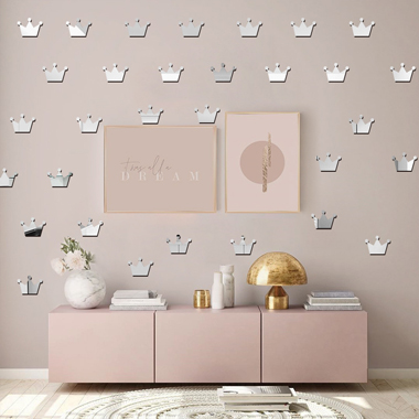 15 Pieces Crown Shape 5 X 7cm Wall Stickers