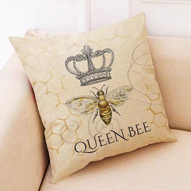 1pc 45 X 45cm Crown Print Pillow Case