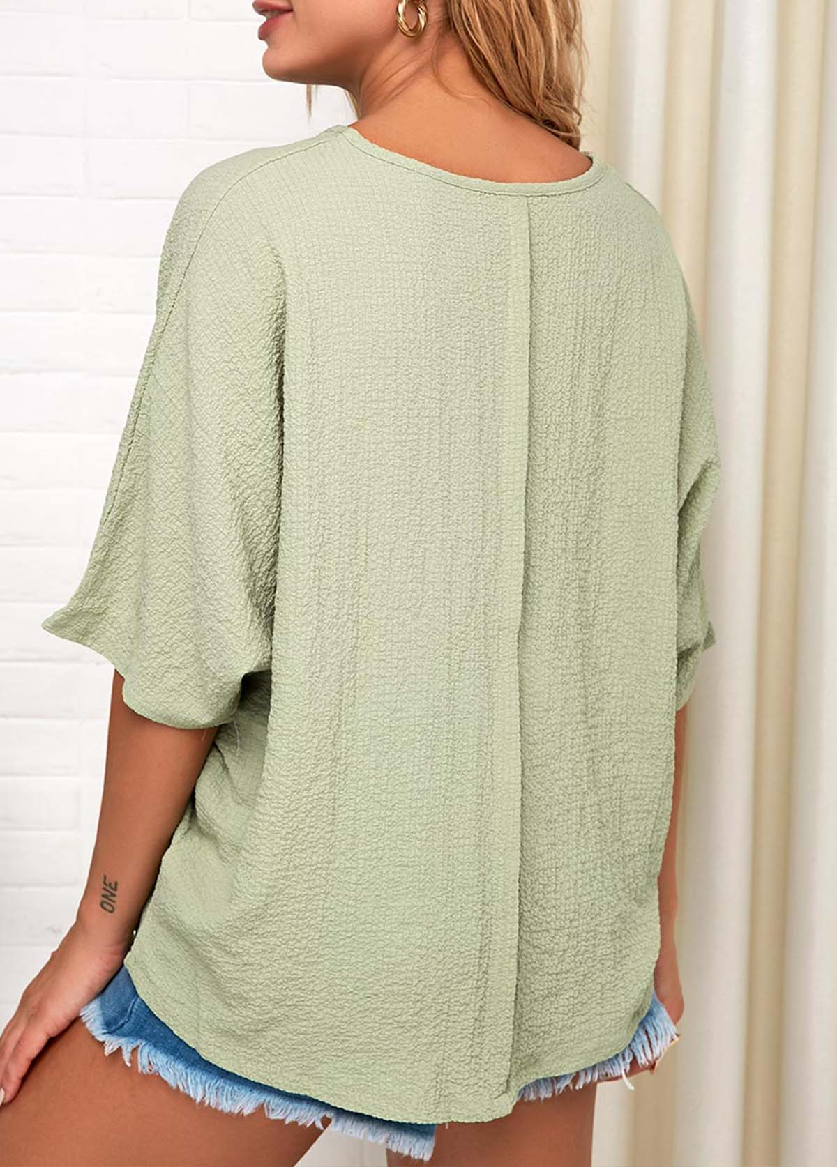 Light Green Soft Short Sleeve T Shirt