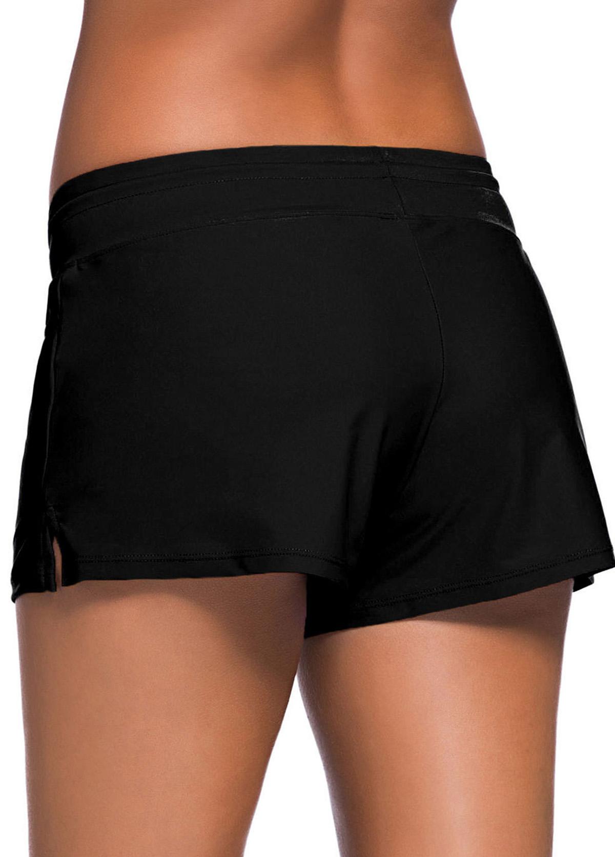 Bowknot Detail Side Slit Swimwear Short