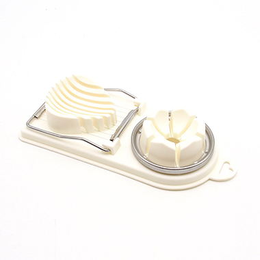 1pc 20 X 9 X 3.8cm White Stainless Steel Egg Cutter