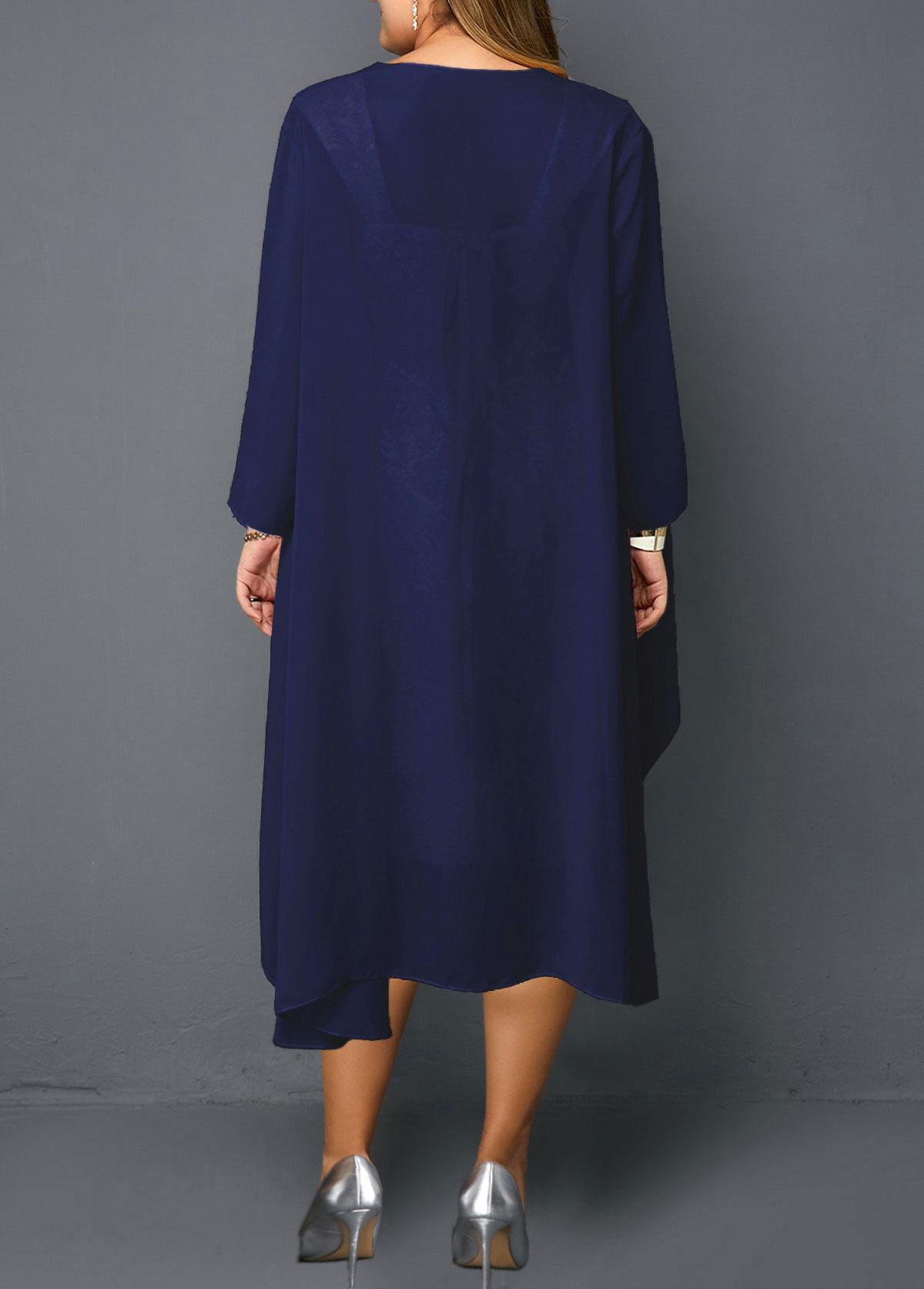 Plus Size Chiffon Cardigan and Sheath Dress