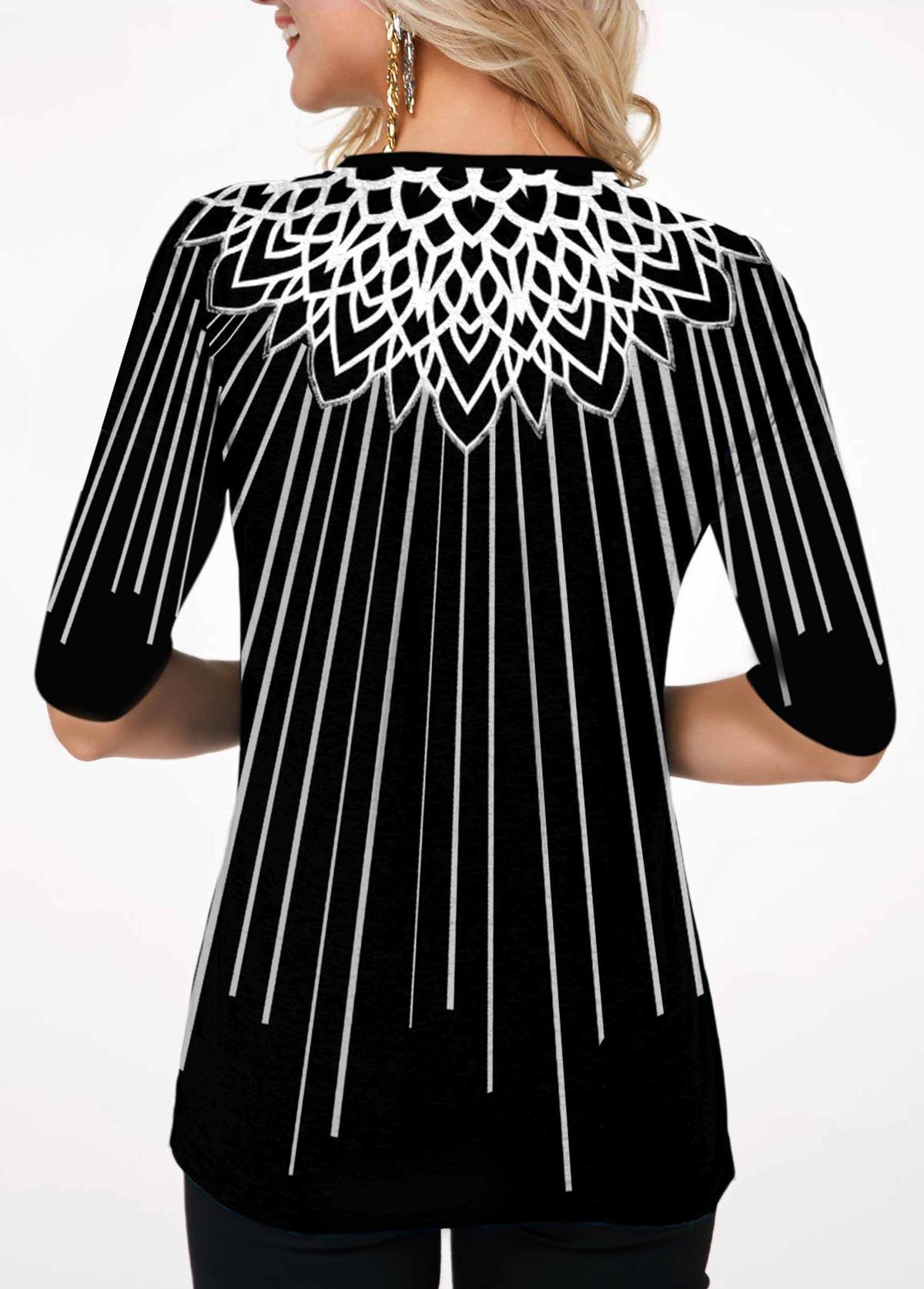 Round Neck Half Sleeve Printed T Shirt
