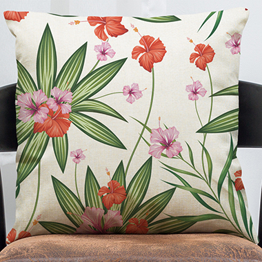 1pc 45 X 45cm Floral Print Pillow Case