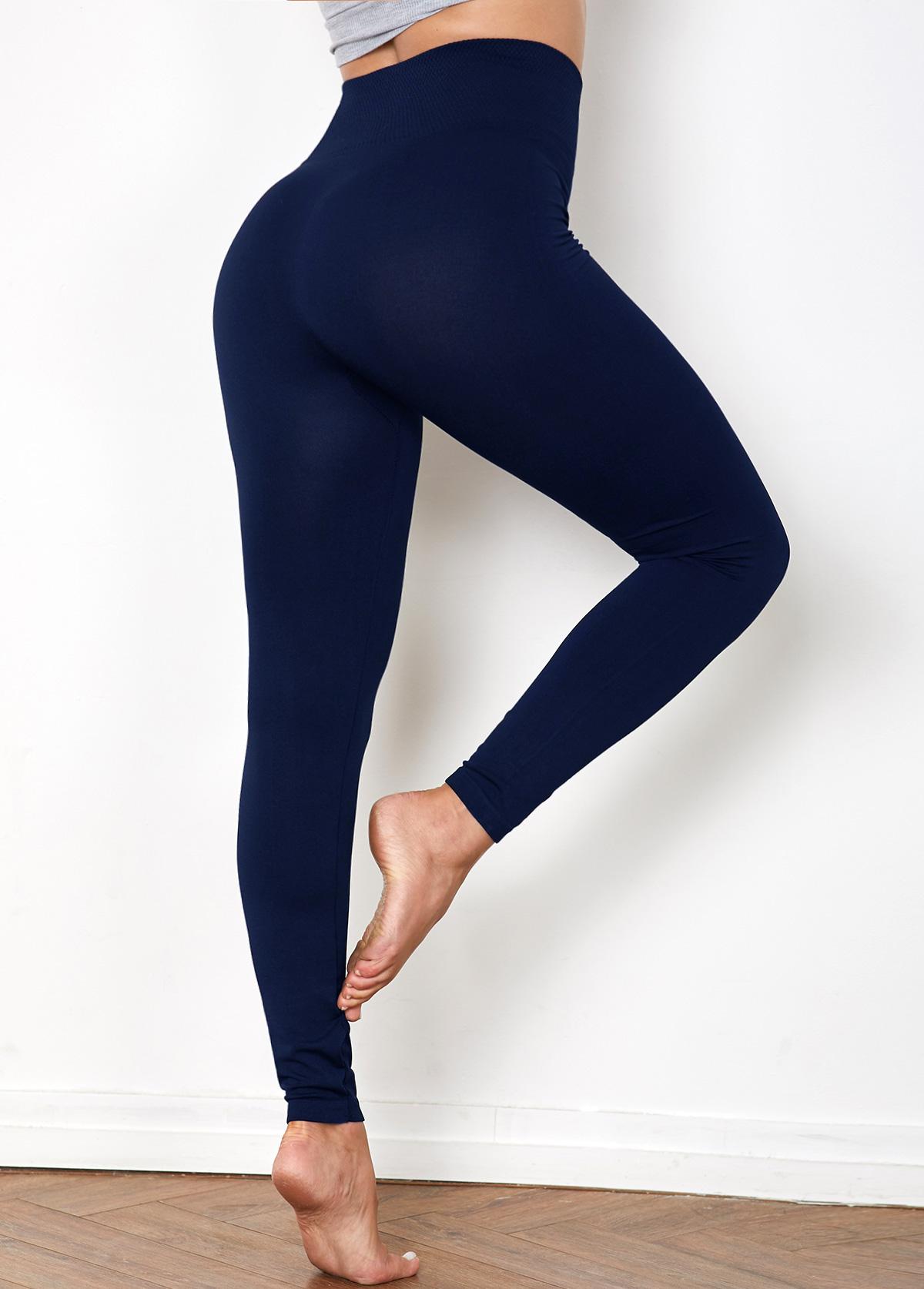 High Waist Super Elastic Navy Legging
