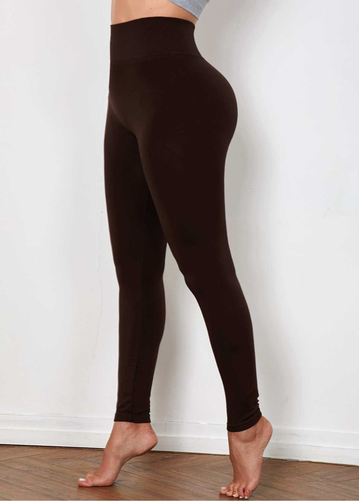 High Waist Brown Super Elastic Legging
