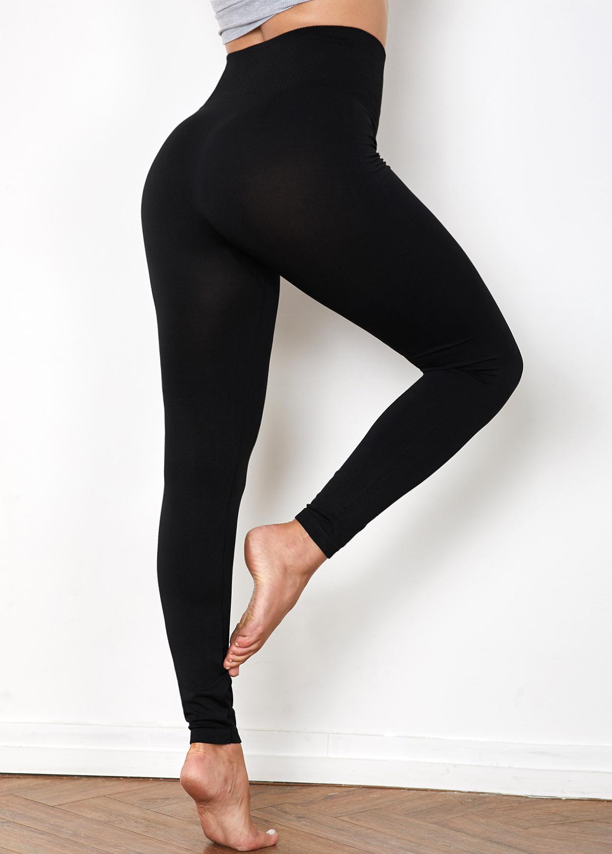 High Waist Black Super Elastic Legging