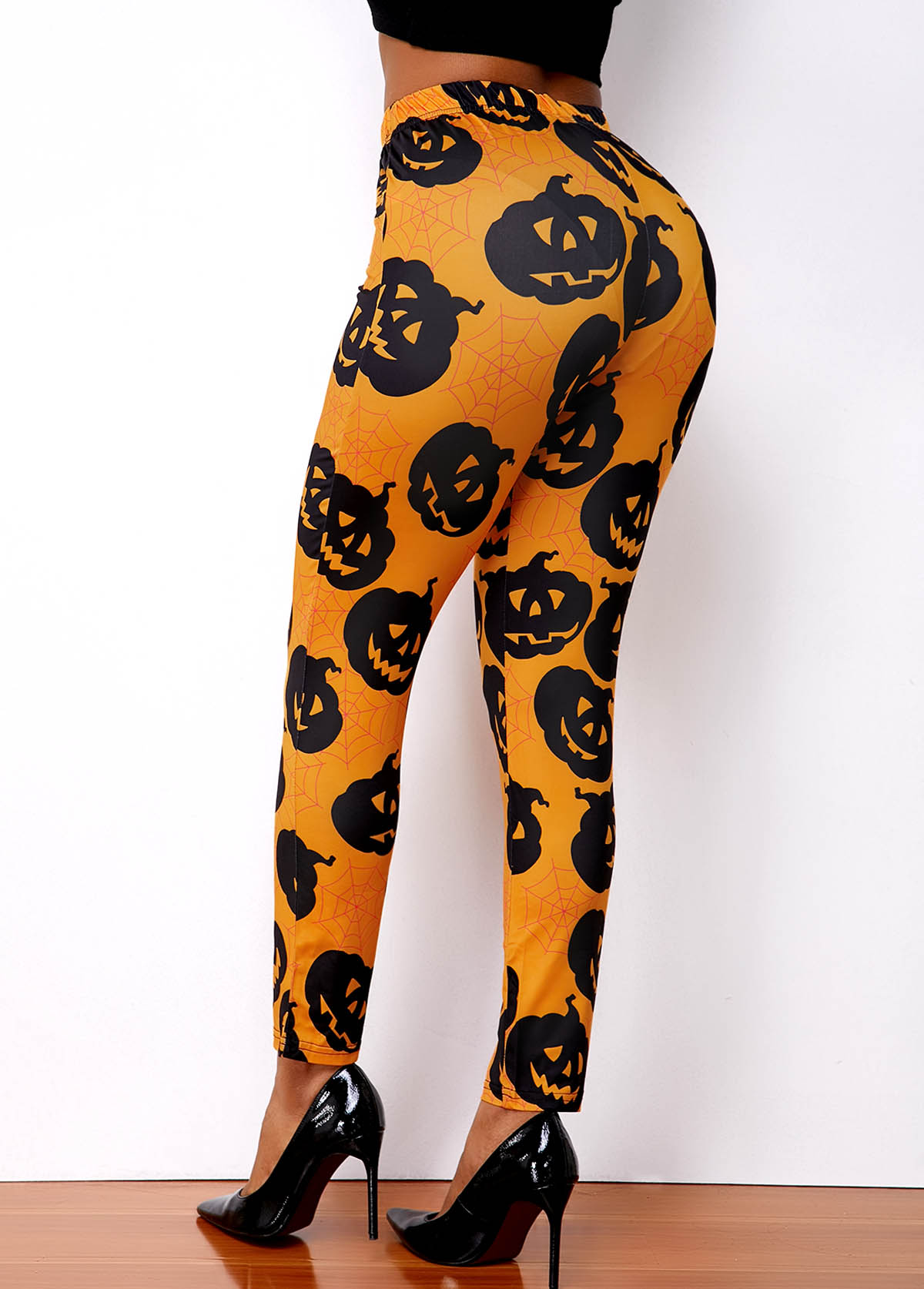 High Waist Super Elastic Halloween Print Legging