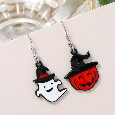 Halloween Ghost Color Block Earring Set