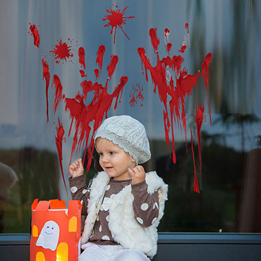 1pc 30 X 45cm Halloween Bleeding Hand Sticker