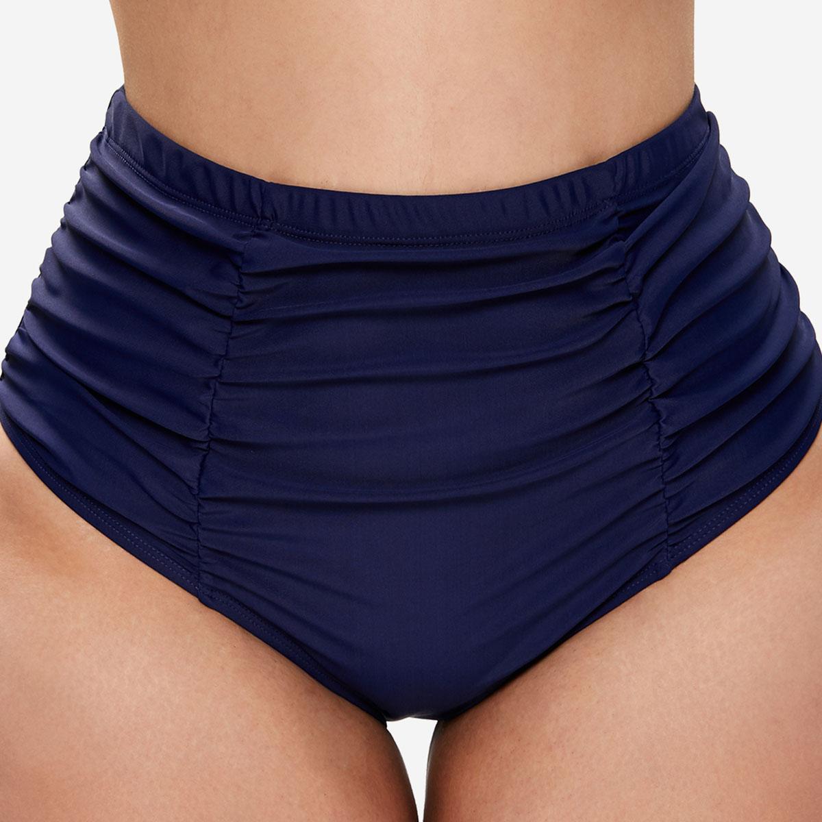 Ruched High Waist Plus Size Swimwear Panty