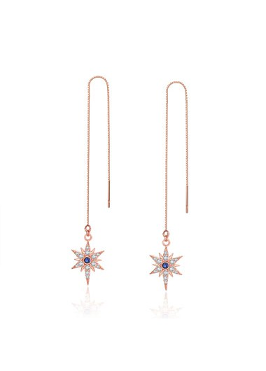 Rosewe coupon: Mother's Day Gifts Gold Metal Hexagram Design Rhinestone Earring Set - One Size