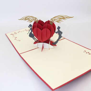 5.9 X 5.9 Inch 3D Heart and Wings Gift Card