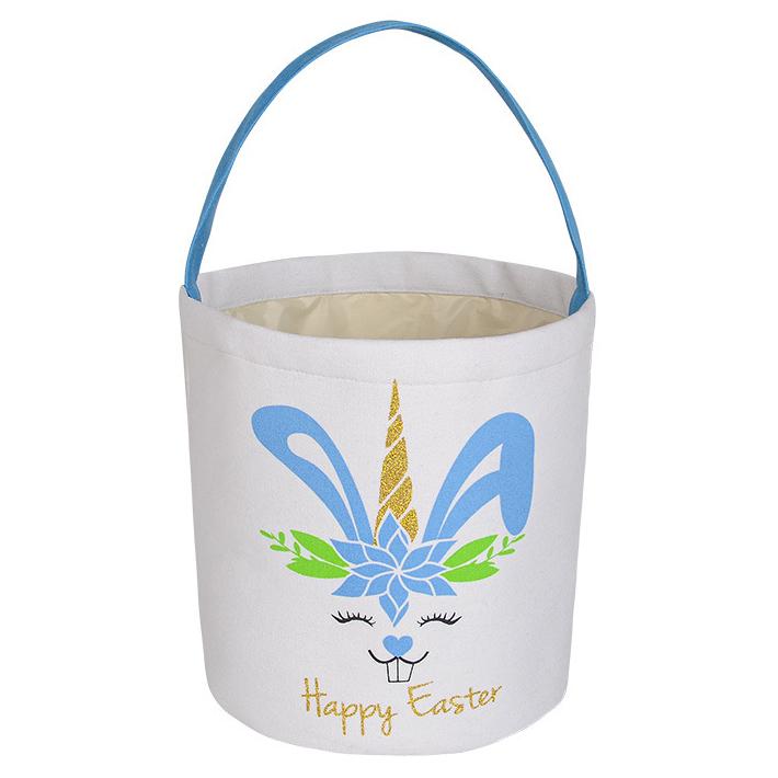9.1 X 9.8 Inch Velvet Easter Rabbit Print Bag