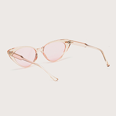 1 Pair Round Frame Pink TR Sunglasses