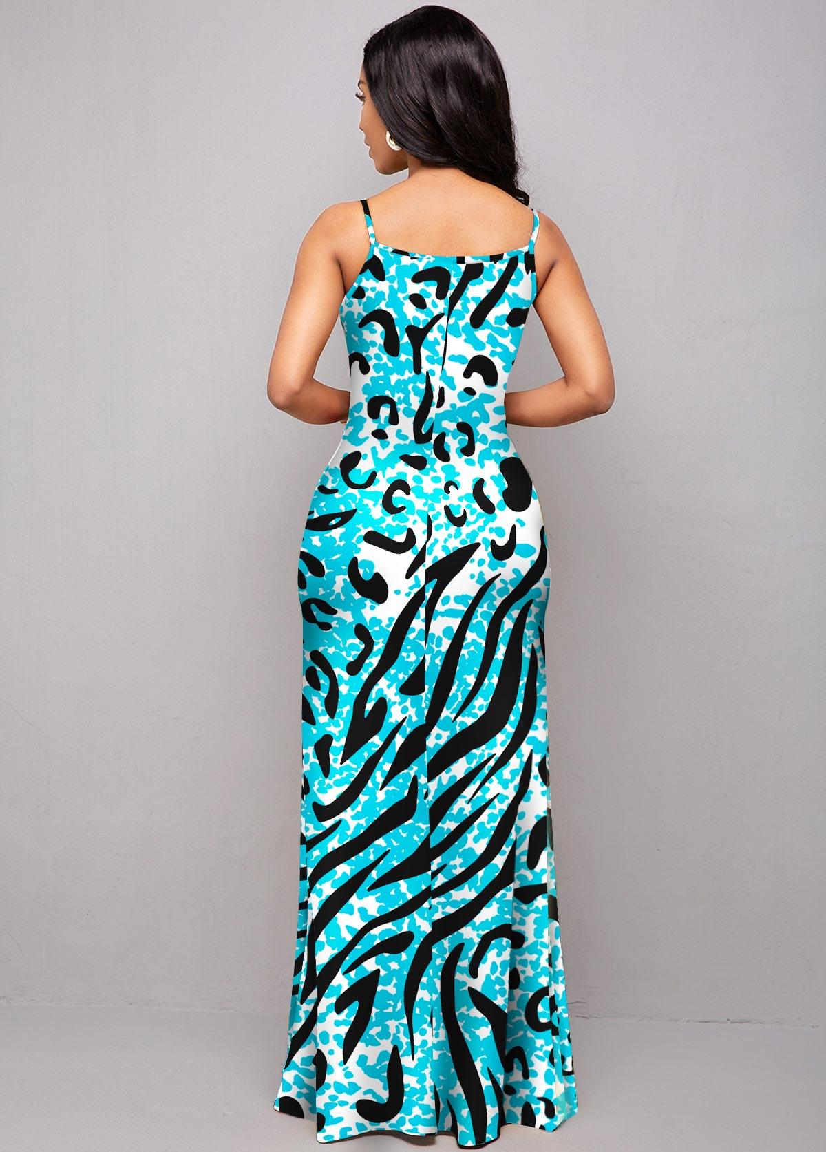 Animal Prints Spaghetti Strap Maxi Dress